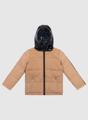 Vierra Rose Caley Reversible Puffer in Camel/Black