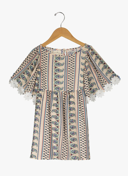 Vierra Rose London Big Sleeve Dress in Paisley Print - FINAL SALE