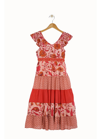 Derhy Kids Chrissie Dress in Raspberry/Farmbiose fushia - FINAL SALE