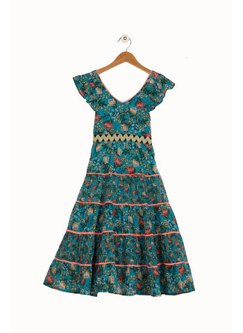 Derhy Kids Cillie Dress in Green/Vert - FINAL SALE