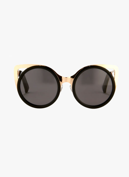 Linda Farrow X Erdem Cat Eye Black Acetate Sunglasses