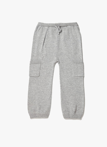 Egg - Knit Pocket Pants IN GREY - W4CK2310  - FINAL SALE
