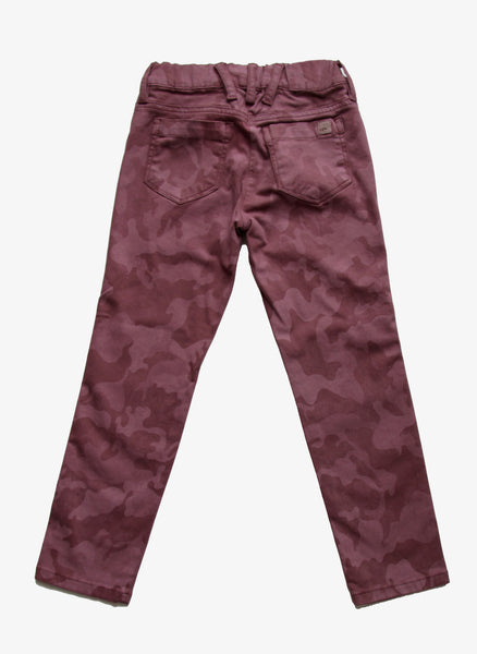 Eddie Pen Girls Denim Jeggings in Dark Rose Camouflage KIE-STAM1 - FINAL SALE