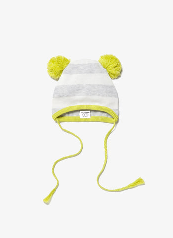 Egg Baby Striped Knit Hat - Grey - FINAL SALE