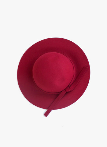Elizabeth Cate Floppy Hat in Crimson