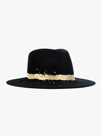 Eugenia Kim Women's GEORGINA Black Wide-Brim Fedora Hat
