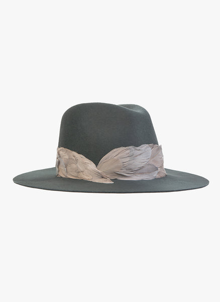 Eugenia Kim Women's GEORGINA Graphite Wide-Brim Fedora Hat