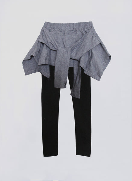 Vierra Rose Fiona Shirt Leggings in Chambray