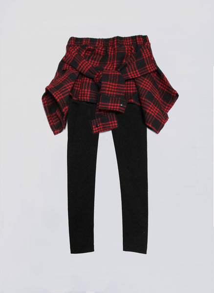 Vierra Rose Fiona Shirt Leggings in Red Plaid - FINAL SALE