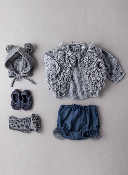 Tocoto Vintage Kids Knitted Vest in Dark Grey - FINAL SALE