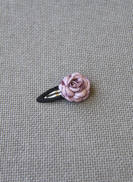 Girls Rose Petal Hair Clip in Light Purple