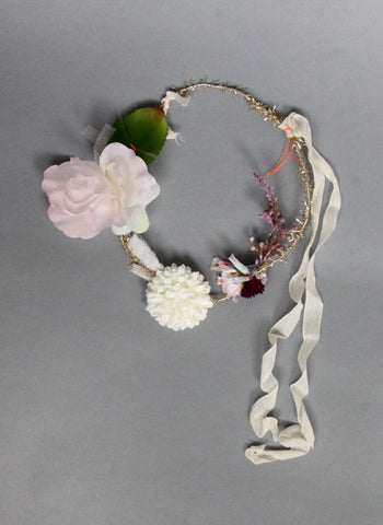 Girls Leia Flower Head Wreath