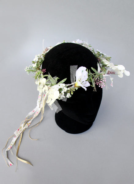 Girls Rhea Flower Wreath Headband