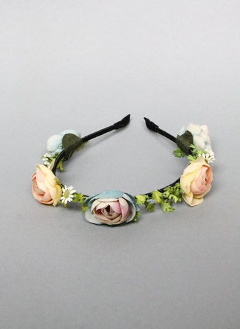 Girls Briallen Rose Headband in Blue/Yellow