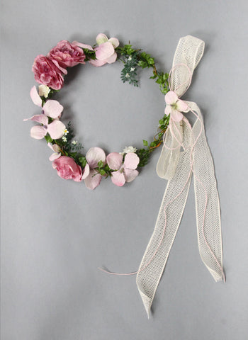 Girls Saphira Flower Head Wreath
