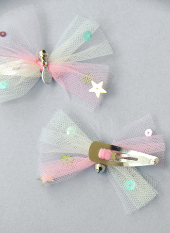 Girls Tulle Sequins Hair Clips