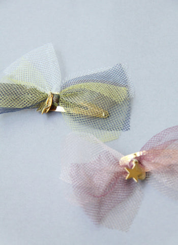 Girls Tulle Star Hair Clips
