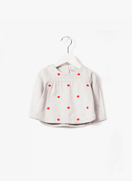 Imps and Elfs Girls L/S Blouse - Old Grey - 3150071 - FINAL SALE