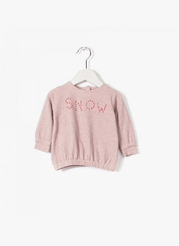 Imps and Elfs Girls L/S Tshirt 'Snow' Pullover - Pink/Grey - 3150621 - FINAL SALE