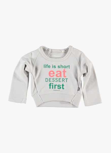 Imps and Elfs 'Life is Short' Pullover - Grey - 1150030 - FINAL SALE