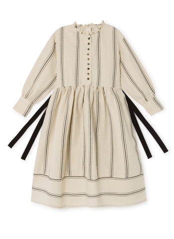 Little Creative Factory The Makers Stripes Dress in Cream - FINAL SALE