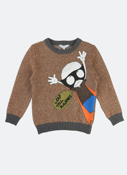 Little Marc Jacobs Long Sleeve Sweater with Funny Illustration - FINAL SALE