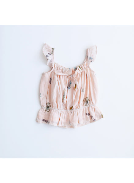 Lali Bluebell Top in Pressed Flowers - FINAL SALE