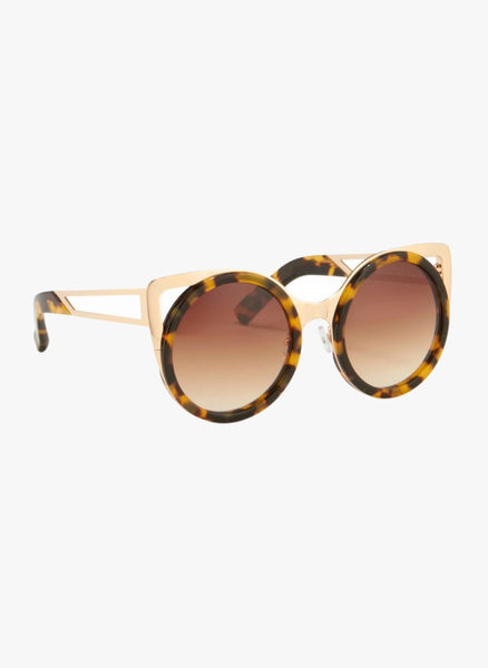 Linda Farrow X Erdem  Cat Eye Tortoise Shell Sunglasses