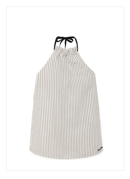 Little Creative Tap Apron Dress in White - FINAL SALE