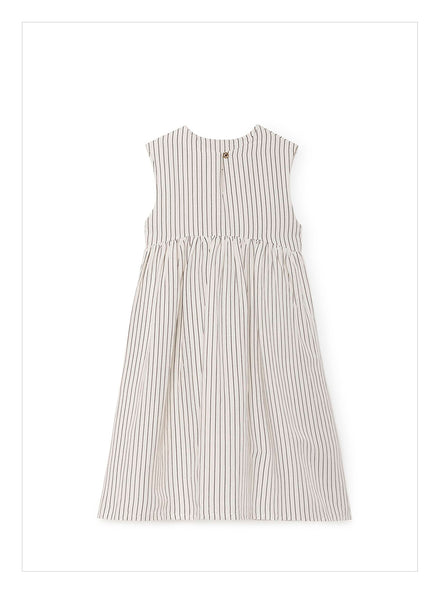 Little Creative Tap Smock Dress in White - FINAL SALE