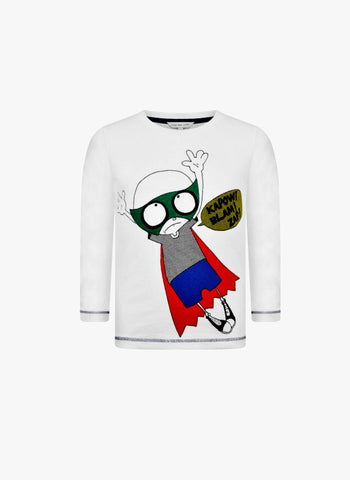 Little Marc Jacobs Funny Mister Marc Superhero Print Tee - FINAL SALE
