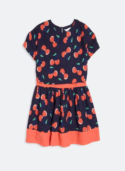 Little Marc Jacobs Girls Allover Cherry Printed Dress - FINAL SALE