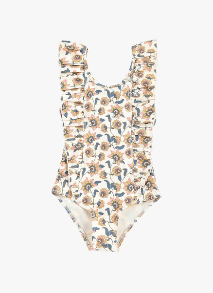 Louise Misha Mosillos Bathing Suit in Cream Flowers