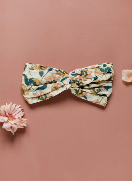 Louise Misha Yuriria Headband in Cream Flowers