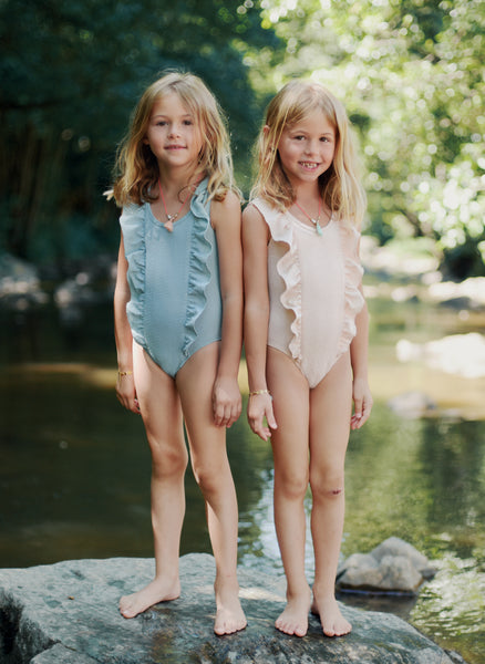 Louise Mischa Cachou Bathing Suit in Blush - FINAL SALE