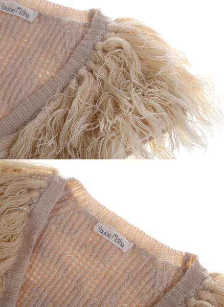 Louise Misha Gilet Flamingo in Beige - FINAL SALE