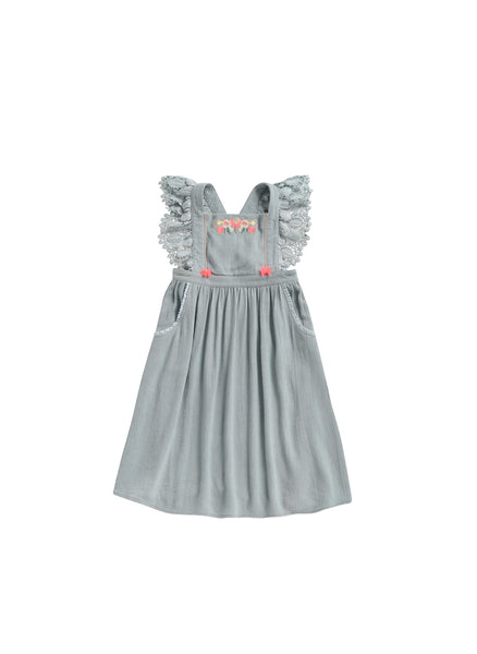 Louise Misha Hawai Dress in Silver Cloud - FINAL SALE