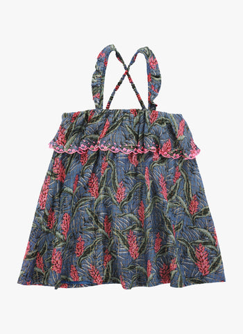 Louise Misha Pama Dress in Lagoon Leaves - FINAL SALE