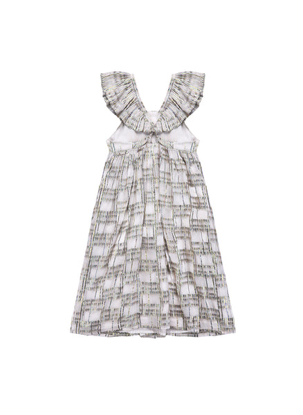 Louise Misha Salvador Dress in White Rainbow - FINAL SALE