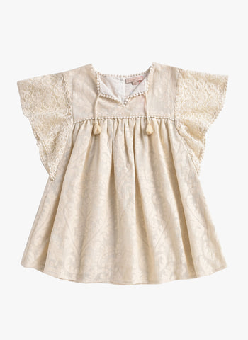 Louise Misha Teresa Dress in Cream Baroque Lace - PRE-ORDER