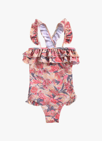 Louise Misha Zacatecas Bathing Suit in Pink Flowers - PRE-ORDER