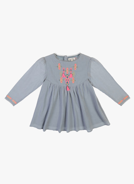 Louise Misha Dress Mujine in Light Grey - FINAL SALE
