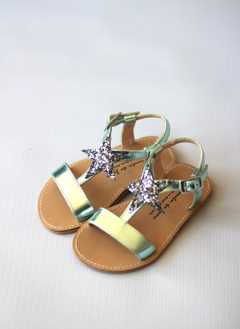 Manuela de Juan Eolios Star Sandals in Elsa Blue -EALGC - FINAL SALE