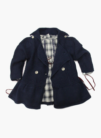 Message in the Bottle Baby Girl Caroline Peacoat - FINAL SALE