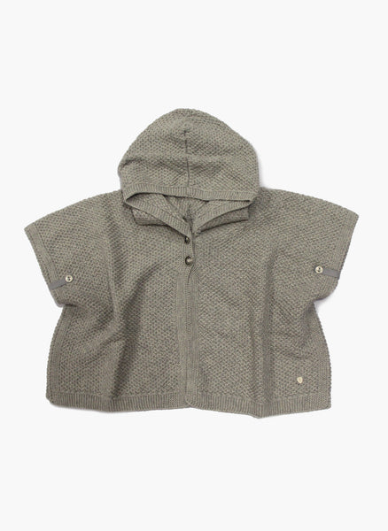 Message in the Bottle Baby Girl Dora Hooded Cape in Fume - FINAL SALE
