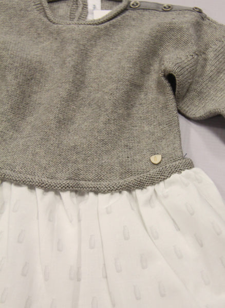 Message in the Bottle Baby Girl Edith Sweater Dress in Fume