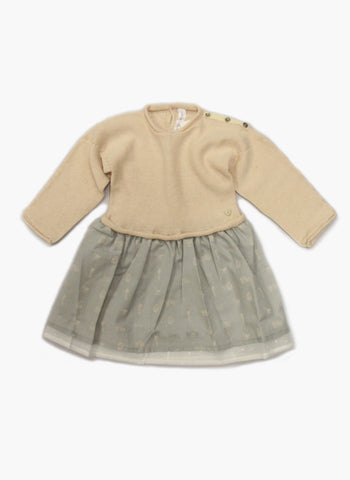 Message in the Bottle Baby Girl Edith Sweater Dress in Rosy - FINAL SALE