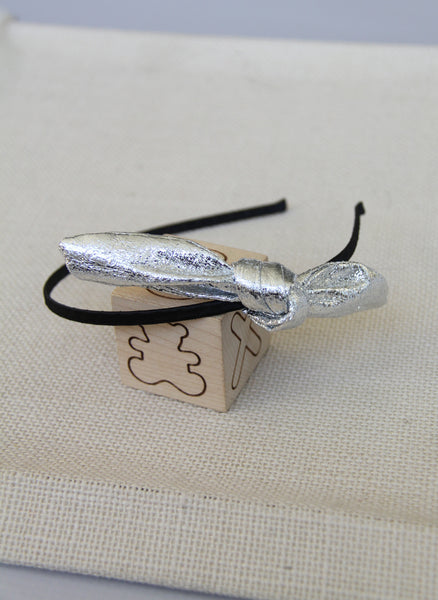 Hello Alyss Metallic Bow Headbands
