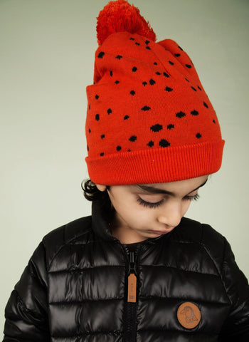 Mini Rodini Knitted Beanie in Red -  1576018342 - FINAL SALE