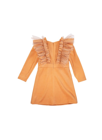 Moque Reina Dress in Caramel - FINAL SALE